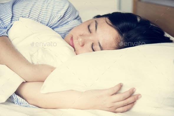 A woman sleeping - Stock Photo - Images