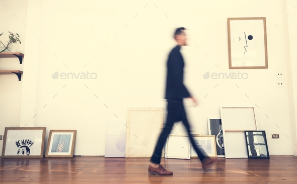 People walking in an office - Stock Photo - Images