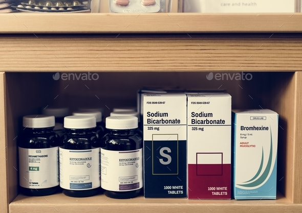 Group of medicine drugs stock - Stock Photo - Images