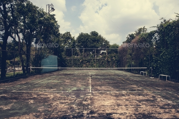 Old Tennis Court - Stock Photo - Images