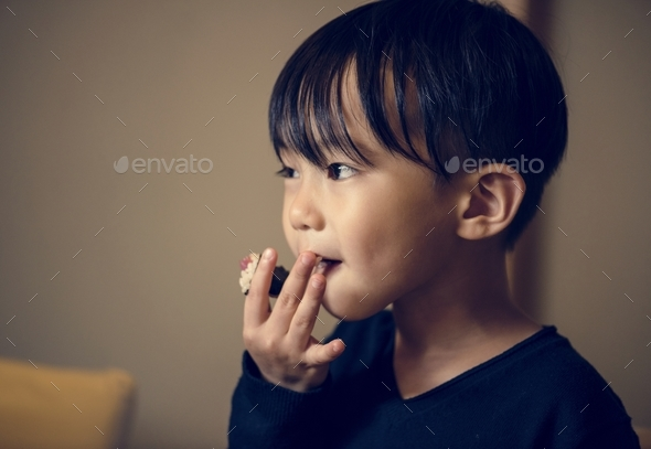 Young asian boy innocence adorable - Stock Photo - Images