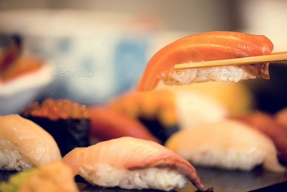 Sushi japanese food healthy eating - Stock Photo - Images