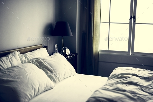 Bedroom with no people - Stock Photo - Images