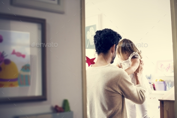 Father with her daughter - Stock Photo - Images