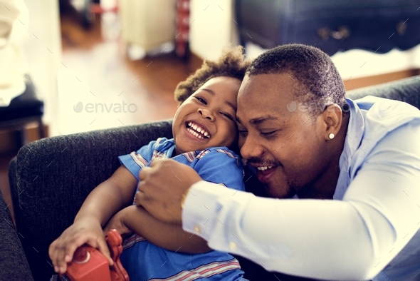Happy african descent family - Stock Photo - Images