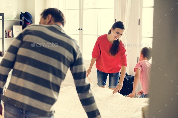Kid helping house chores - Stock Photo - Images