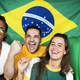 Friends cheering world cup with painted flag - PhotoDune Item for Sale