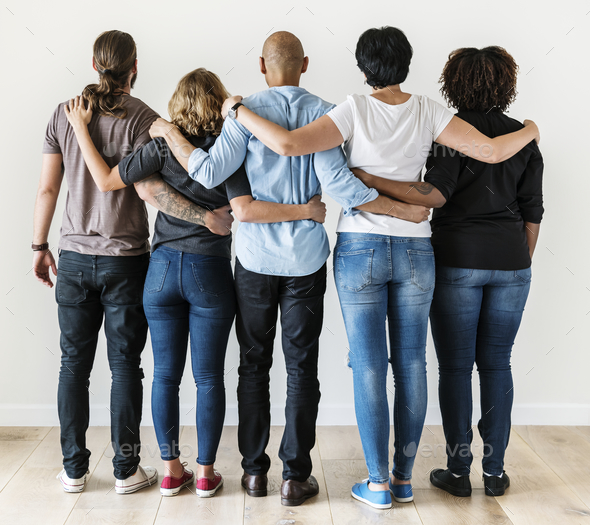 Diverse people with teamwork concept - Stock Photo - Images