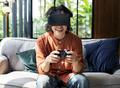 People enjoying virtual reality goggles - PhotoDune Item for Sale