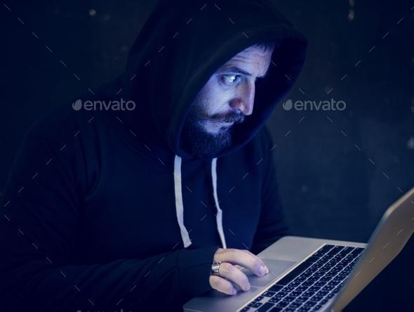 Diverse computer hacking shoot - Stock Photo - Images