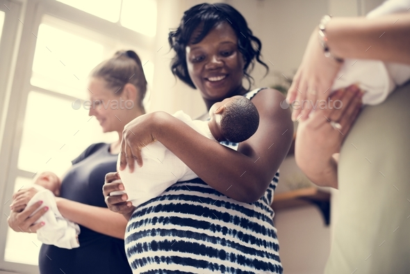 Pregnant women in a class - Stock Photo - Images