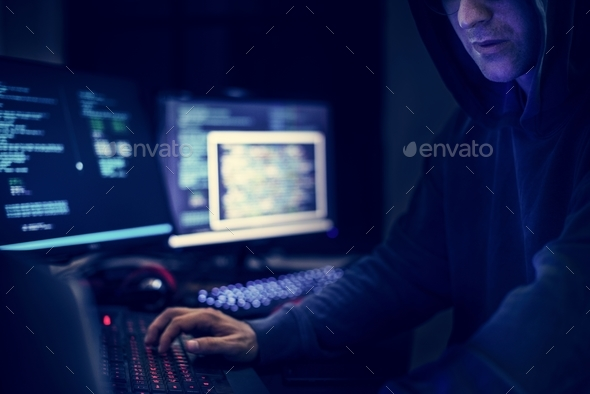 Hacker shoot - Stock Photo - Images