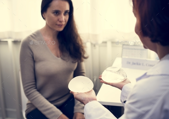 Breast correction and plastic surgery - Stock Photo - Images
