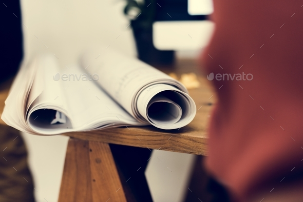 Close up of paper rolls - Stock Photo - Images