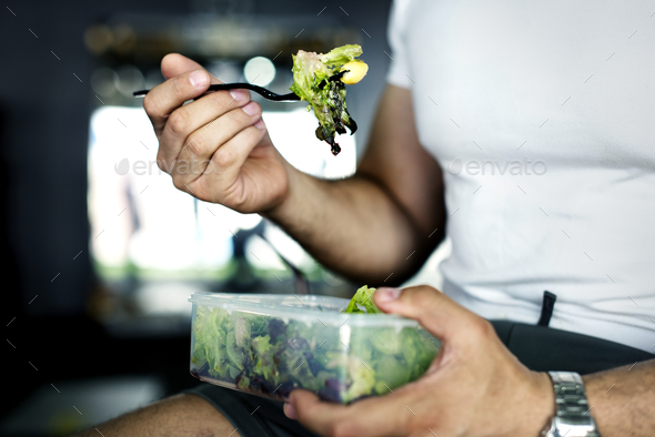 People eating healthy food - Stock Photo - Images