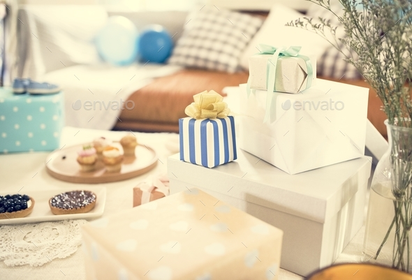 Baby shower party - Stock Photo - Images
