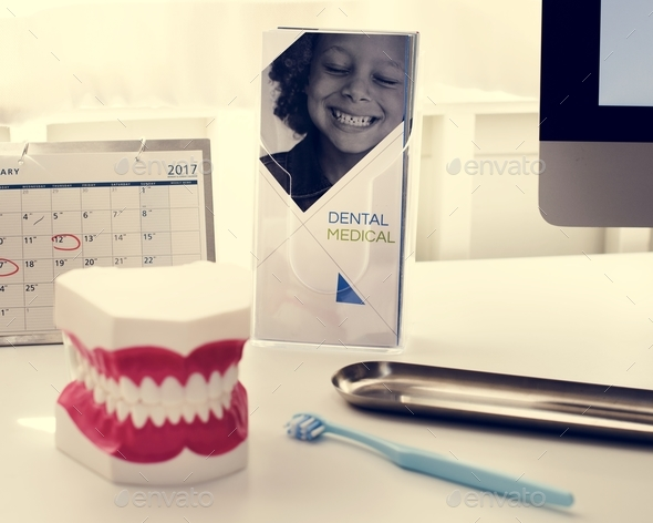 A dentist's desk - Stock Photo - Images