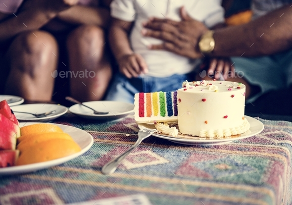 Kid's birthday cake - Stock Photo - Images