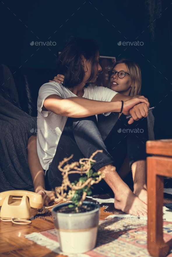 Lovely couple spending quality time together - Stock Photo - Images