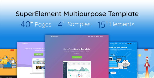 SuperElement — Multipurpose Saas/SEO/Hosting/Mobile Template - Corporate Site Templates