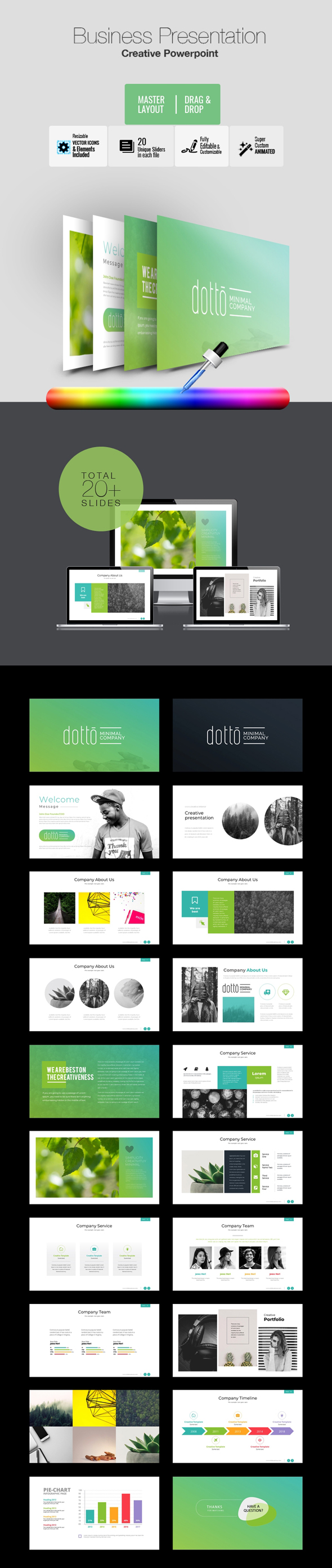 Dotto - Multipurpose PowerPoint Template - Business PowerPoint Templates