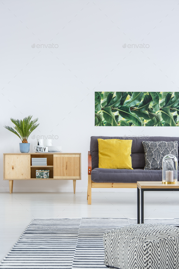 Cozy living room interior - Stock Photo - Images
