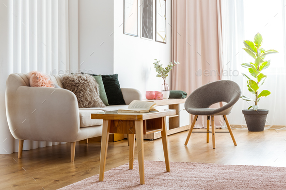 Feminine living room interior - Stock Photo - Images