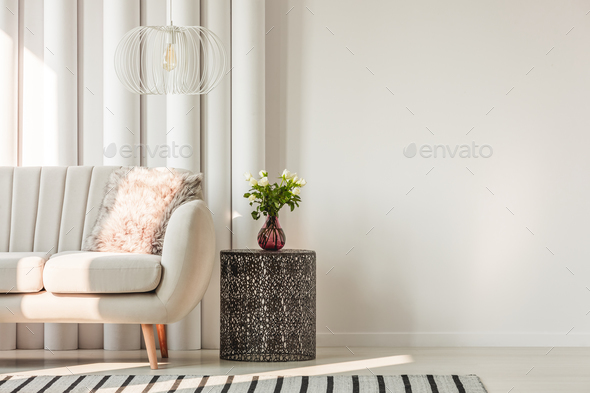 Sofa and table in living room - Stock Photo - Images