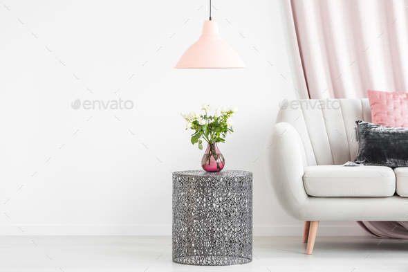 Side table with bouquet - Stock Photo - Images