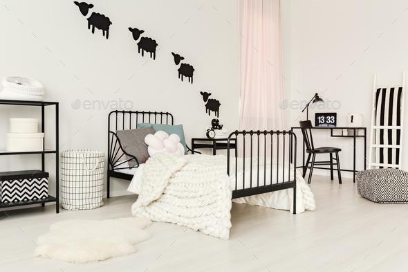 White child's bedroom interior - Stock Photo - Images