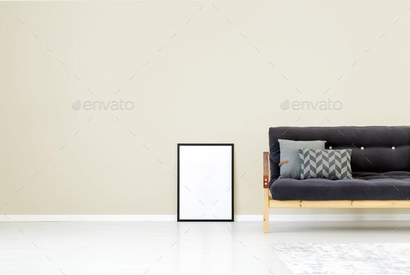 Mockup of poster in interior - Stock Photo - Images