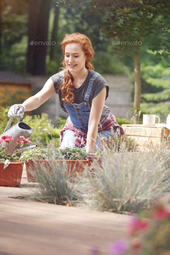 Pursuing a gardening career - Stock Photo - Images