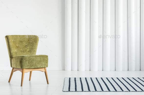 Green chair in living room - Stock Photo - Images
