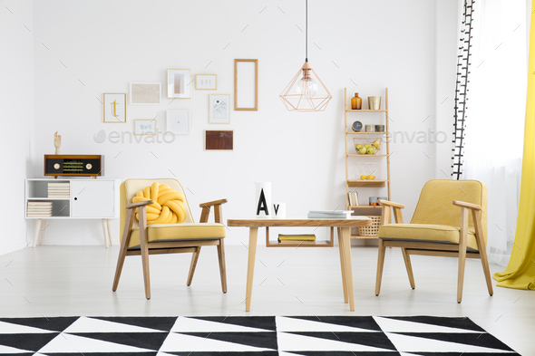 Retro living room interior - Stock Photo - Images