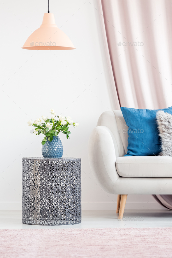 Living room with side table - Stock Photo - Images