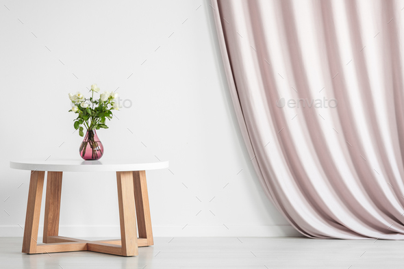 Coffee table with roses - Stock Photo - Images