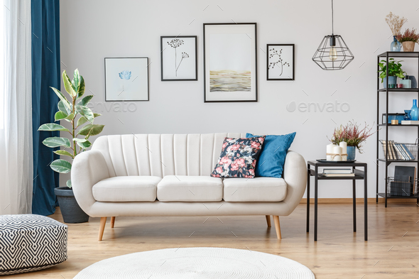 Sofa in living room interior - Stock Photo - Images