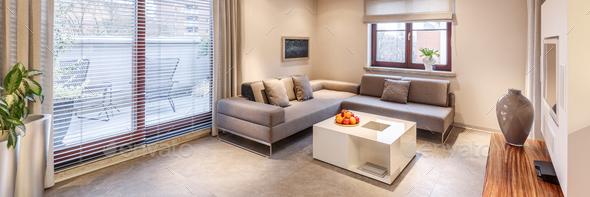 Monochromatic apartment interior - Stock Photo - Images