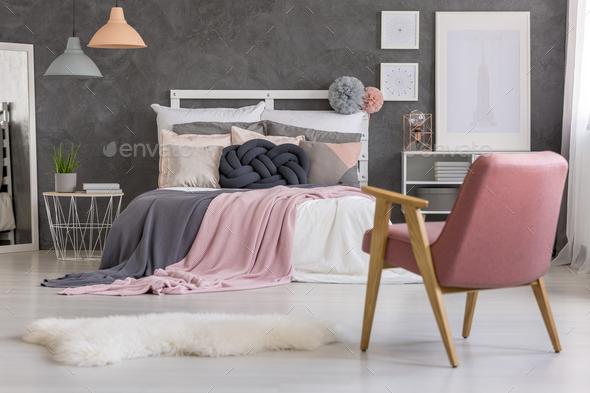 Armchair in bedroom - Stock Photo - Images