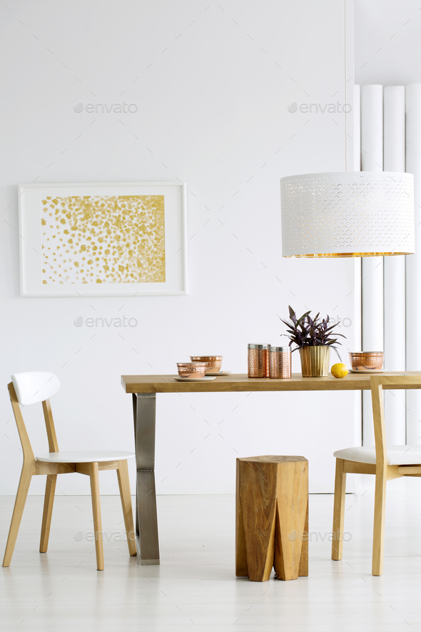 Cozy dining room interior - Stock Photo - Images