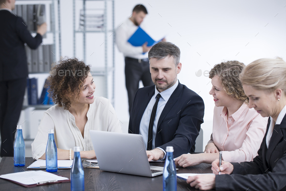 Team working on presentation - Stock Photo - Images