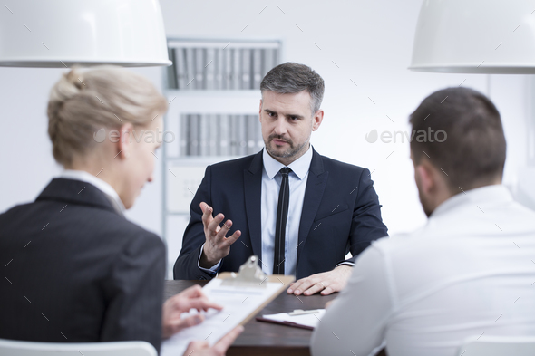 Man in suit in corporation - Stock Photo - Images