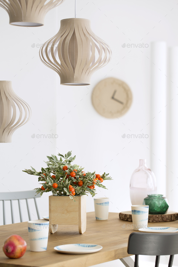 Plant in wooden pot - Stock Photo - Images