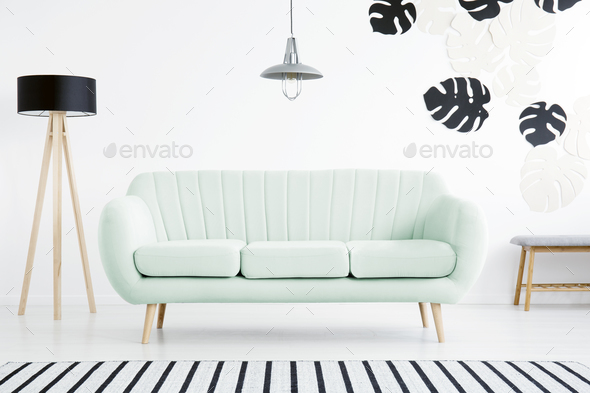 Black and white living room - Stock Photo - Images