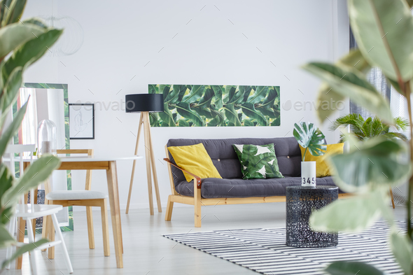 Side angle of living room - Stock Photo - Images