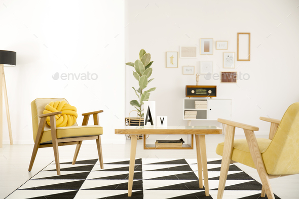 Vintage living room interior - Stock Photo - Images