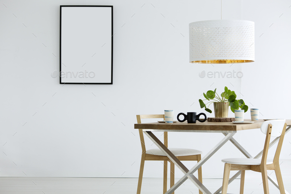 Mockup of poster in room - Stock Photo - Images