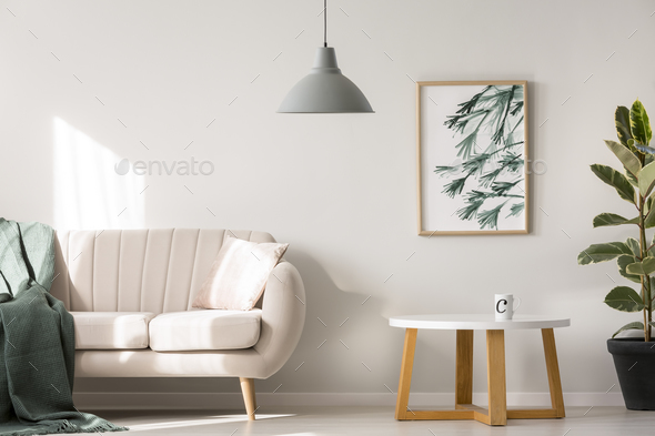 Simple poster on wall - Stock Photo - Images