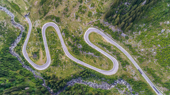Transfagarasan highway in Romania - Stock Photo - Images