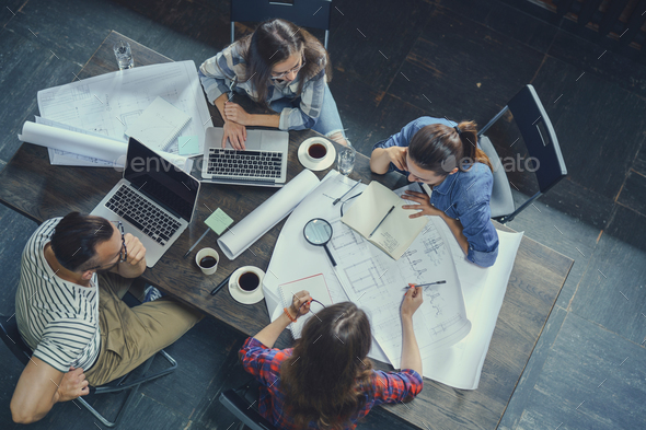 Young workers indoors - Stock Photo - Images